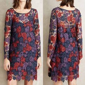 Anthropologie Harvest Blooms Dress Crochet Lace 4